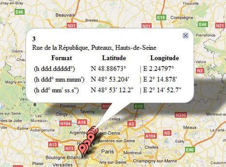 Afficher des coordonnées GPS sur une carte géographique | Freewares | Scoop.it