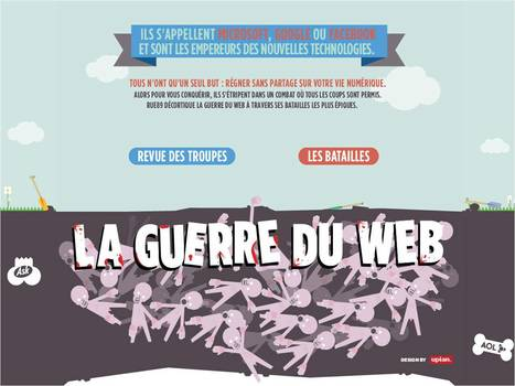 La guerre des géants du Web | Rue89 | All about Data visualization | Scoop.it