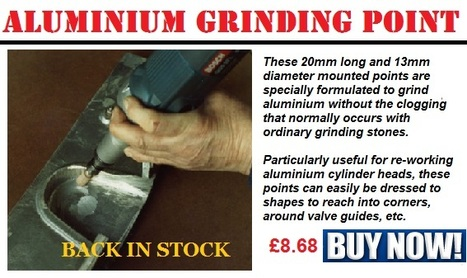 Aluminium Grinding Point - £8.68 ***BACK IN STOCK*** http://goo.gl/QSZxBC | Auto Restoration | Scoop.it
