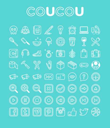 Download Coucou, a set of 64 fun and quirky icons | The Official Photoshop Roadmap Journal | Scoop.it