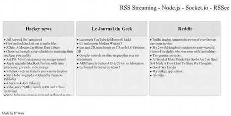 RSS avec NodeJS Socket.IO et Express - IT Wars | javascript.js | Scoop.it
