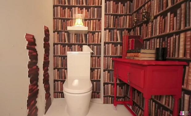 Des idées pour décorer vos toilettes dans un style trompe-l'oeil  (+ vidéo) | La Revue de Technitoit | Scoop.it