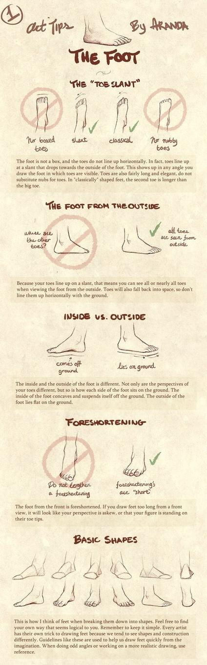Foot Drawing Tutorial   art sculpture enseignement   Scoop.it