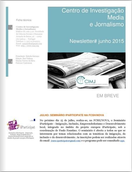 Newsletter CIMJ # junho 2015 | CIMJ - Centro de Investigação Media e Jornalismo | Scoop.it