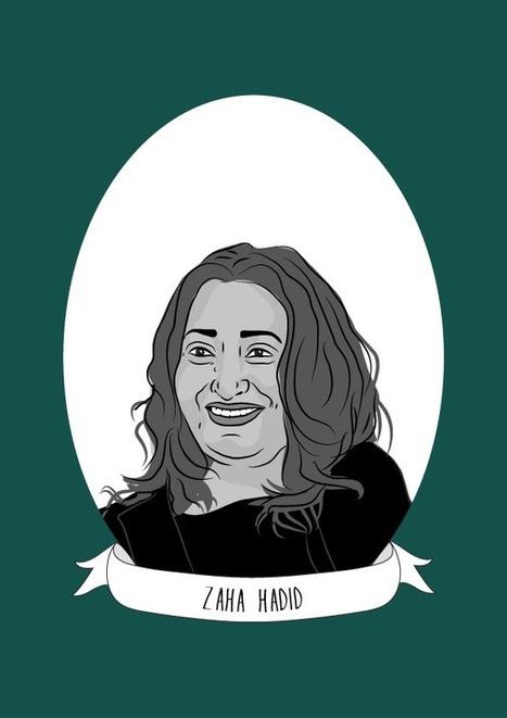 Illustrated Women in History - Zaha Hadid, the Iraqi-British architect | Fabulous Feminism | Scoop.it