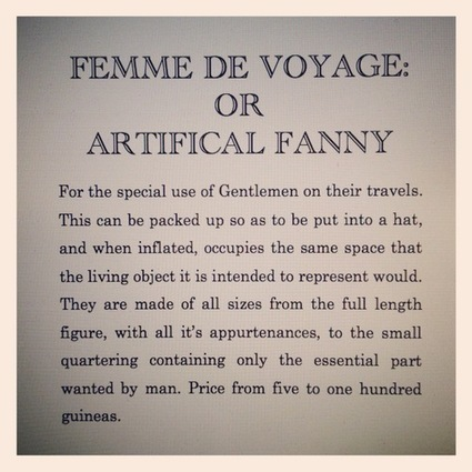 The Victorians and the Blow Up Doll Femme de Voyage | Web Sammich | Scoop.it