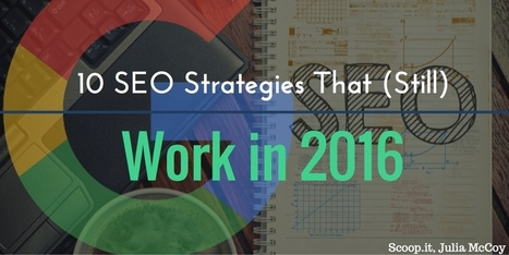 10 SEO strategies that will work in 2016 | Social Media | Scoop.it