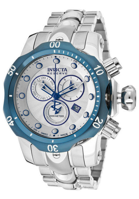 Invicta Watch 10806 Men's Venom/Reserve Chronograph Silver Dial stainless Steel | watch | Scoop.it