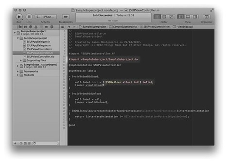 Easy Xcode Static Library Subprojects and Submodules – James Montgomerie's World Wide Web Log | My iOS Bucket | Scoop.it