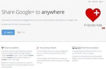 Friends+Me, tus posts en Google+ se publicarán automáticamente en otras redes | TIC et TICE mais... en français | Scoop.it
