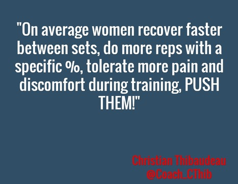 Women Recover Faster. via @Coach_CThib | She Enters The 5th Chamber Of Fitness | Scoop.it