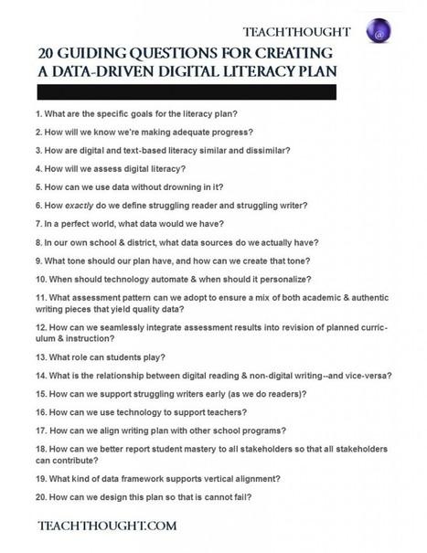 20 Guiding Questions To Develop A Digital Literacy Plan - | Re-Ingeniería de Aprendizajes | Scoop.it