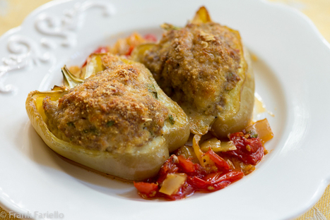Italian Meat Stuffed Peppers - Peperoni ripieni di carne | Le Marche and Food | Scoop.it