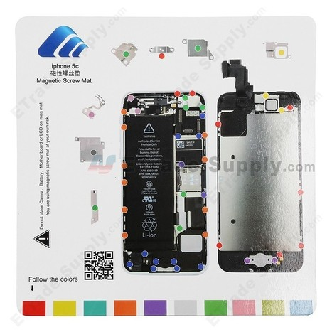 Apple iPhone 5C Magnetic Screw Mat - ETrade Supply | Other Spare Parts | Scoop.it