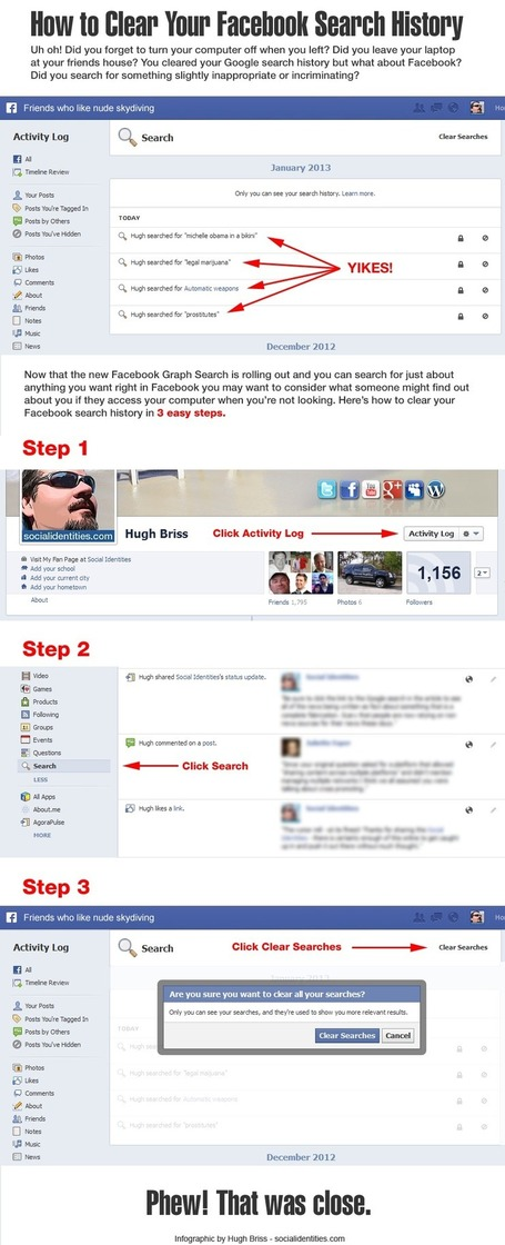 How to clear your Facebook search history | Techie News From Around The World | Scoop.it