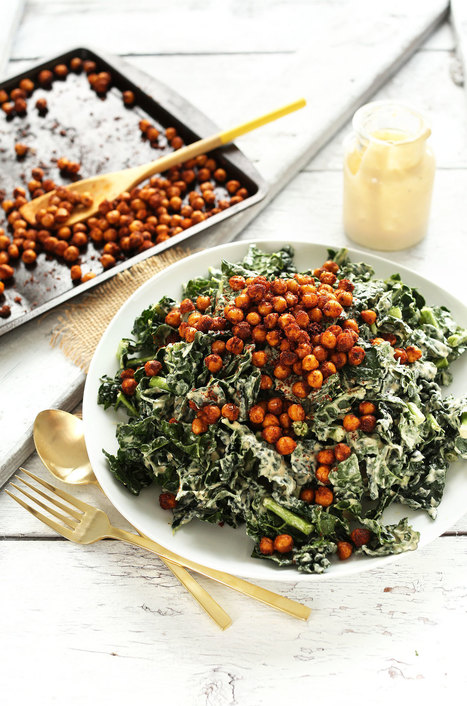 Kale Salad with Tandoori Roasted Chickpeas | Natural Recipes | Scoop.it