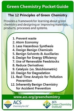 12 Principles of Green Chemistry - American Chemical Society | ProEd's Corner | Scoop.it