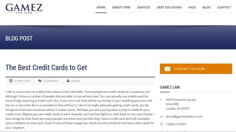 The Best Credit Cards to Get | Gamez Law Firm | Gamez Law Firm | Scoop.it