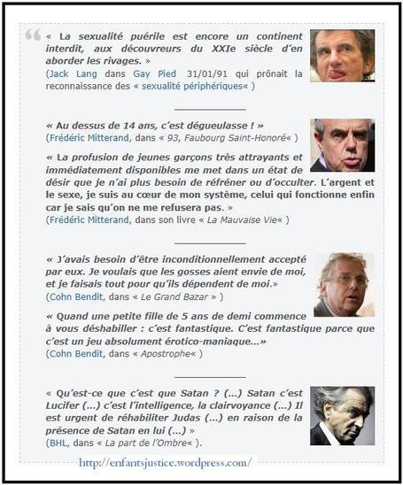 Les belles citations de notre élite pervertie | Pédocriminalité & Réseau pédophile | Scoop.it