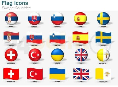 Flag Icons - European Countries | PowerPoint - Maps, Templates, Diagrams, Illustrations and more! | Scoop.it