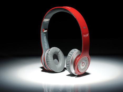 Eye-catching Beats by Dr. Dre Solo Diamond White Headphones Red_hellobeatsdreseller.com | Monster Beats Solo | Scoop.it
