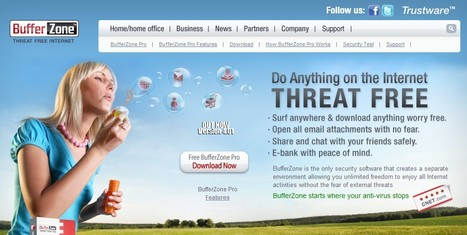 "Trustware - BufferZone-Threat Free Internet | ""#Google+, +1, Facebook, Twitter, Scoop, Foursquare, Empire Avenue, Klout and more"" 