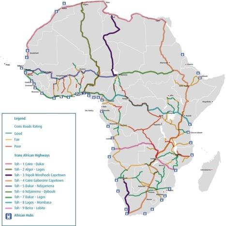 SSA trade corridors map | Development Economics | Scoop.it