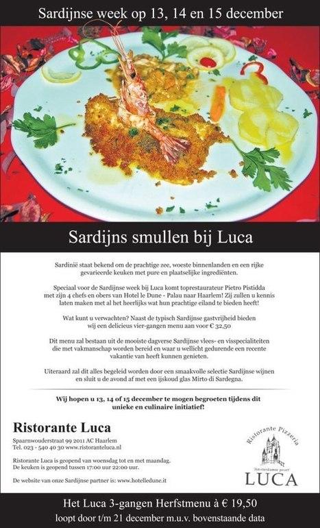 Sardijnse week bij Luca Haarlem | La Cucina Italiana - De Italiaanse Keuken - The Italian Kitchen | Scoop.it