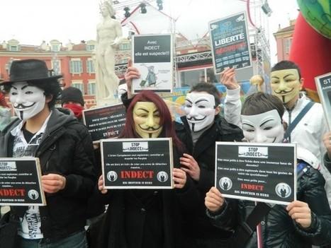 23 fev 2013, Nice répond présent à l'appel #Anonymous contre Big Brother / INDECT | Libertés Numériques | Scoop.it