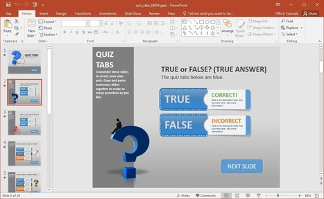 Create a Quiz in PowerPoint With Quiz Tabs PowerPoint Template | PowerPoint Tips & Presentation Design | Scoop.it