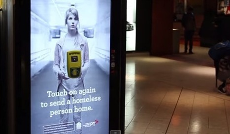 Installation of the Week: Commuters Donate to Homeless Charity with DOOH   digital signage   Scoop.it