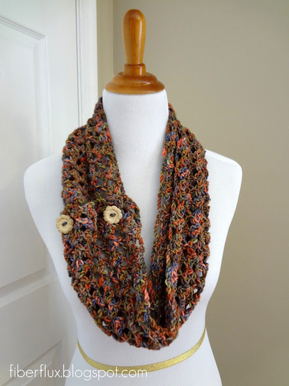 Free Crochet Pattern...Flower Patch Button Wrap | Needle and Hook Patterns-all free | Scoop.it