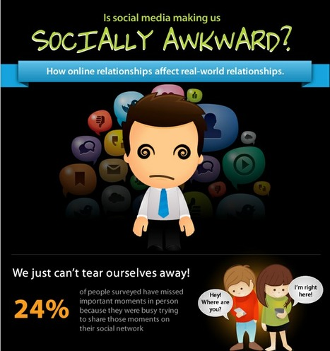 Is Social Media Making Us Socially Awkward  (Infographic) | ZipMinis: Science of Blogging | Scoop.it