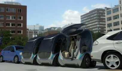 Tiny electric car folds up into itself for easy parking | SmartPlanet | 21st Century Innovative Technologies and Developments as also discoveries, curiosity ( insolite)... | Scoop.it