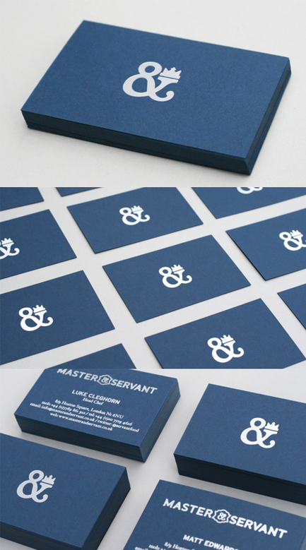 Classy Blue And Silver Minimalist Design Business Card For A Restaurant | MarketingHits | Scoop.it