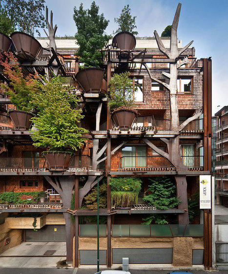 Urban Treehouse Uses 150 Trees To Protect Residents From Noise And Pollution   Innate Ecology   Scoop.it