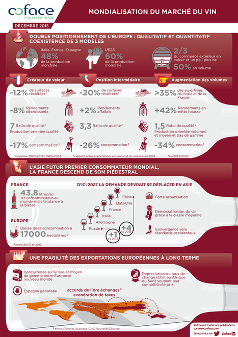 Infographie : Mondialisation du marché du vin | Verres de Contact | Scoop.it
