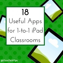 18 Useful Apps for 1-to-1 iPad Classrooms - Class Tech Tips | Curriculum and Instruction | Scoop.it