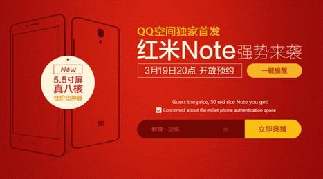 Lo Xiaomi Redmi Note octacore 5.5 pollici sarà lanciato il 19 Marzo! | iMela & Affini | Scoop.it
