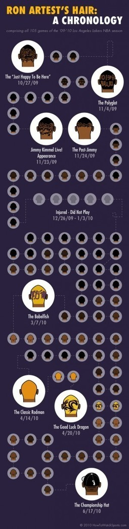Ron Artest's Hair: A Chronology[INFOGRAPHIC] | INFOGRAPHICS | Scoop.it