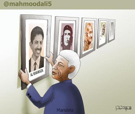 Nelson Mandela placing AlKhawaja in the 'Great Souls' hall of fame.... | Human Rights and the Will to be free | Scoop.it