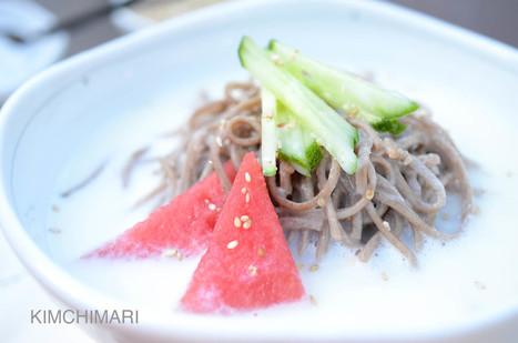 Cold Soy Milk Noodle Soup (Kongguksu 콩국수) | Kimchimari | La cuisine japonaise | Scoop.it