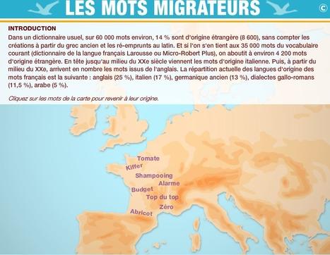 Mots migrateurs : une carte interactives dédiée aux mots migrateurs ! | Tout le web | Scoop.it