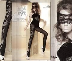 Strumpbyxor med blommigt mönster från Ballerina, 60 den | strumpbyxor boutique | Scoop.it