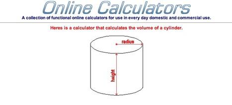 Online Calculator including volume, area, interest, math functions | Grade 6 Math: Measurement | Scoop.it