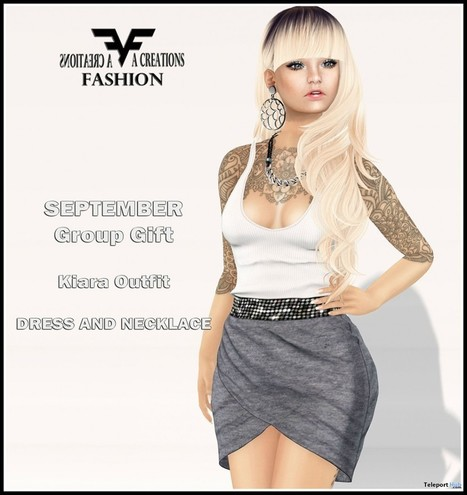 Kiara Outfit September 2015 Group Gift by FA CREATIONS | Teleport Hub - Second Life Freebies | Second Life Freebies | Scoop.it