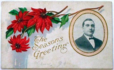 Antique Victorian 1912 Christmas Postcard with Portrait Photograph | Antiques n' Oldies | Scoop.it