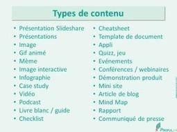 La liste ultime de tous les types de contenus (+ des outils gratuits pour les produire soi-même) - Propulzr | Digital | Scoop.it