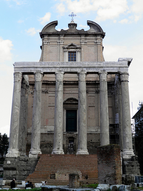 Photoset: The temple of Antoninus and Faustina, Rome | LVDVS CHIRONIS 3.0 | Scoop.it