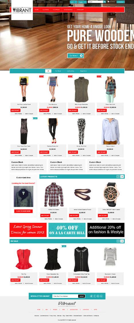 Vibran, Magento Premium Unique Clothing Theme | Premium Download | Premium Magento Themes | Scoop.it